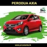 Perodua Axia Price in Sri Lanka